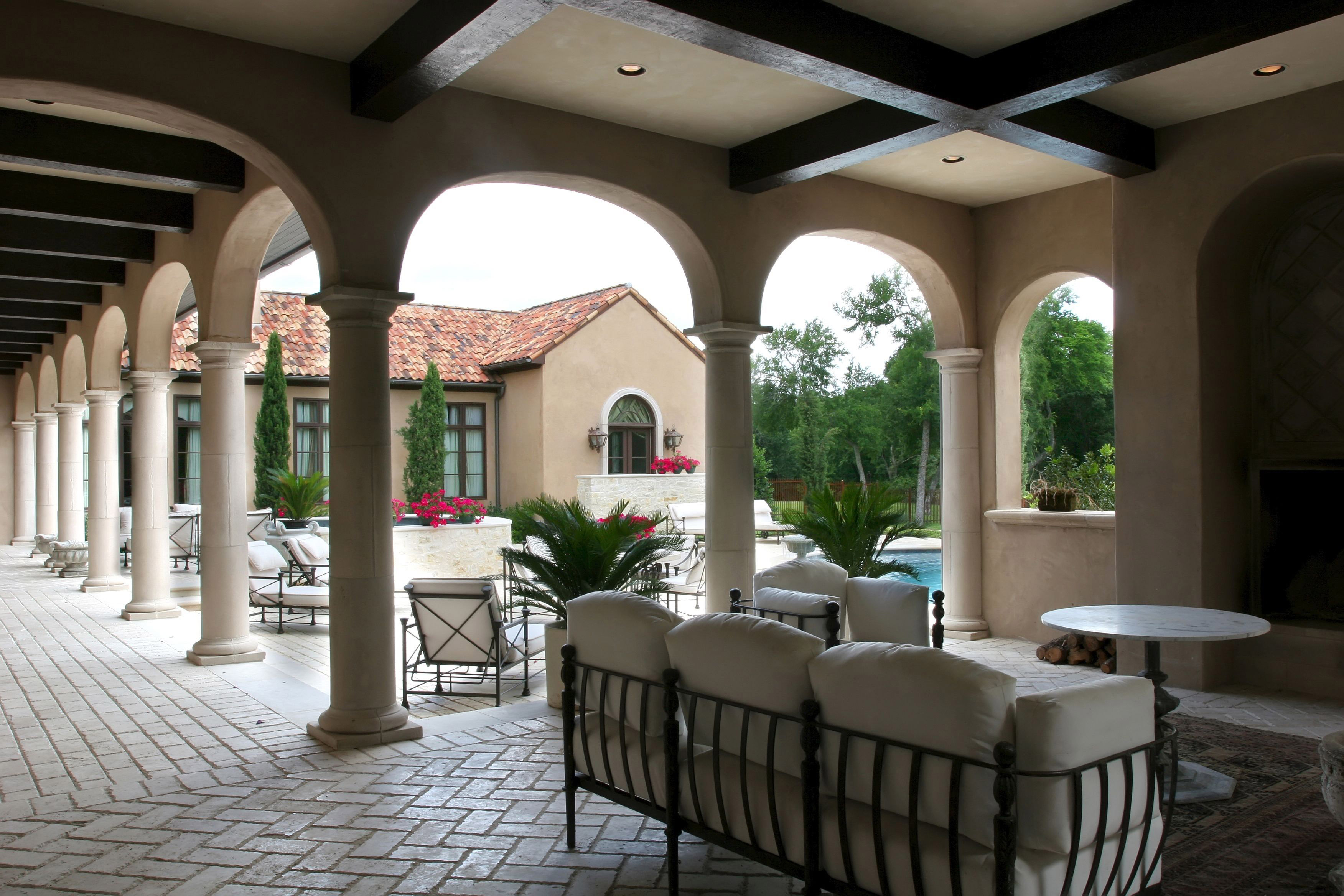 Patio covers chermac builders for Luxury spanish style homes